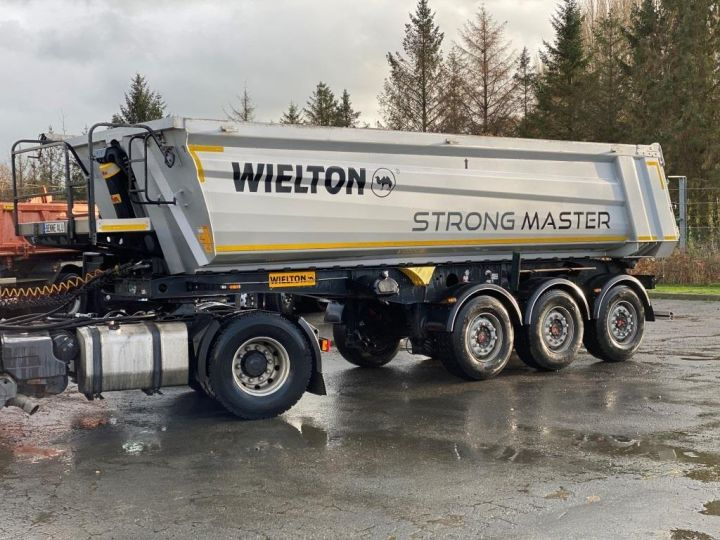 Remorque Wielton Benne arrière WIELTON/FRUEHAUF 3 ESSIEUX ALUMINIUM DEMI RONDE  GRIS - 9
