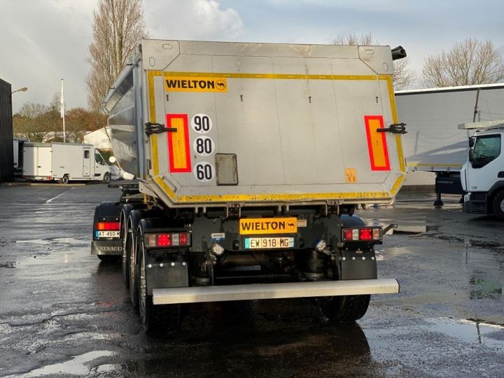Remorque Wielton Benne arrière WIELTON/FRUEHAUF 3 ESSIEUX ALUMINIUM DEMI RONDE  GRIS - 12