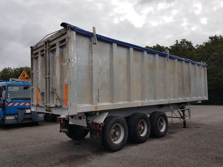 Remorque Benne céréalière Benne Cérélaière 3 essieux 44m3 GRIS Occasion - 2