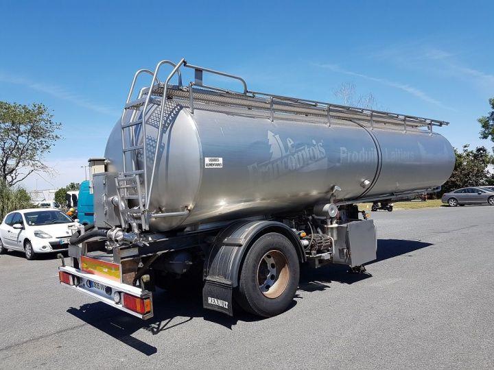 Remorque Citerne alimentaire Citerne inox 21000 litres 3 cpts GRIS Occasion - 2