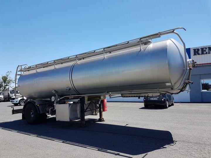 Remorque Citerne alimentaire Citerne inox 21000 litres 3 cpts GRIS Occasion - 3