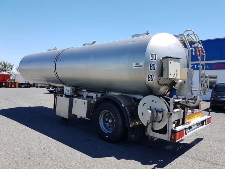 Remorque Citerne alimentaire Citerne inox 21000 litres 3 cpts GRIS Occasion - 4