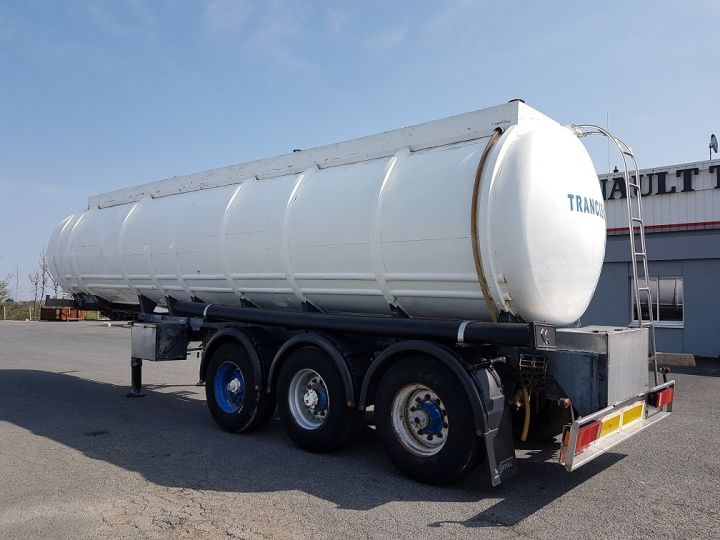 Remorque Citerne hydrocarbures Citerne acier 28000 litres BLANC - GRIS Occasion - 4