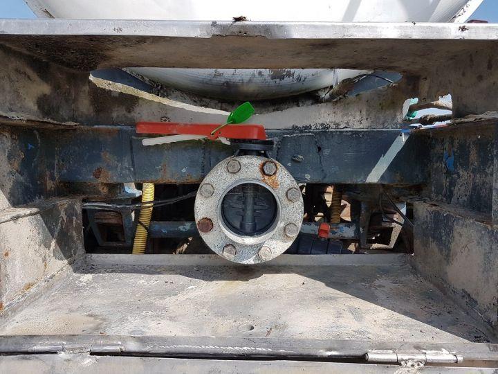 Remorque Citerne hydrocarbures Citerne acier 28000 litres BLANC - GRIS Occasion - 6