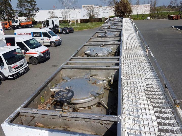 Remorque Citerne hydrocarbures Citerne acier 28000 litres BLANC - GRIS Occasion - 11