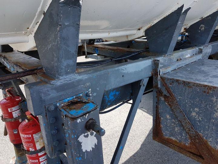 Remorque Citerne hydrocarbures Citerne acier 28000 litres BLANC - GRIS Occasion - 21