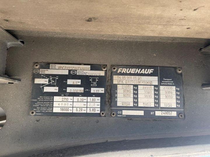 Remorque Fruehauf SEMI REMORQUE FRUEHAUF PLSC TOIT DEBACHABLE 2 ESSIEUX DX 27 CS BLEUE - 8