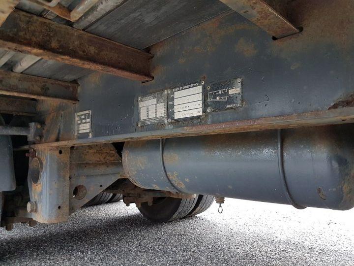 Remorque Trailor Plateau Plateau surbaissé à ridelles 7m30 - 2 essieux GRIS - 14