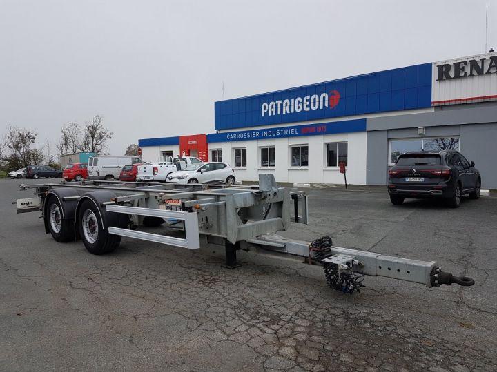 Remorque Fruehauf Porte container Remorque 2 essieux PORTE-CAISSE MOBILE GRIS - 3