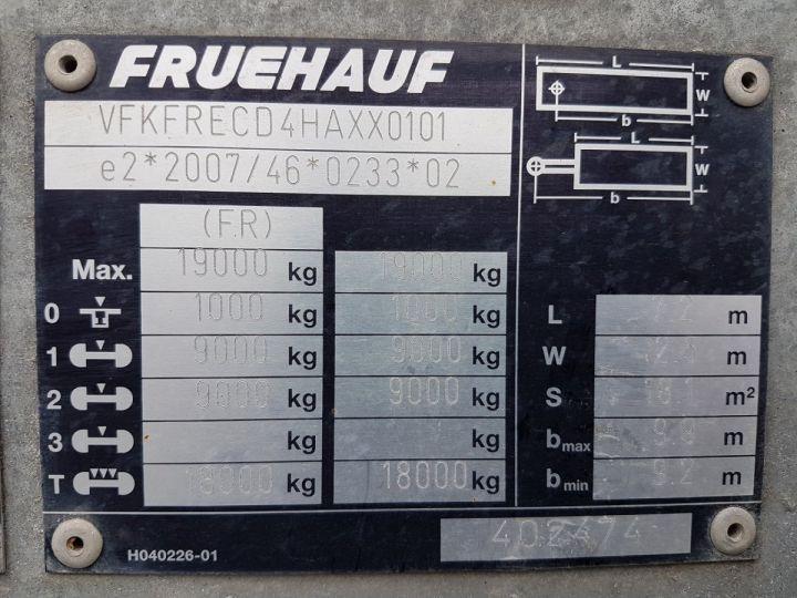 Remorque Fruehauf Porte container Remorque 2 essieux PORTE-CAISSE MOBILE GRIS - 17