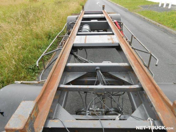 Remorque Pomiers Porte container PORTE-BENNE AMOVIBLE 7m. GRIS - 8