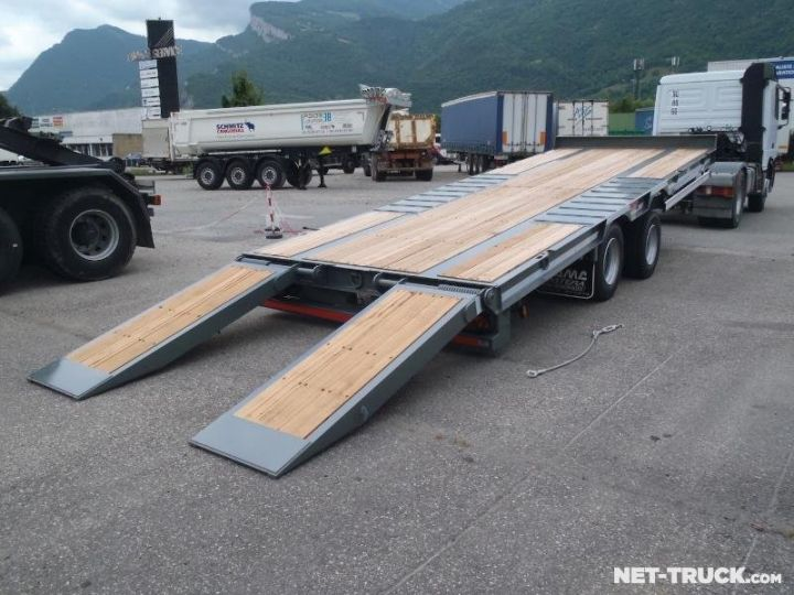 Remorque AMC Castera Porte engins RAL 7012 GRIS - 2
