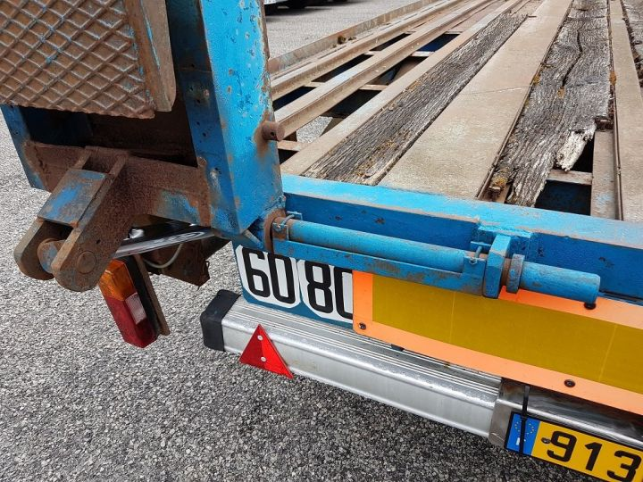 Remorque Lag Porte engins PLATEAU SURBAISSE A RAMPES BLEU - 18