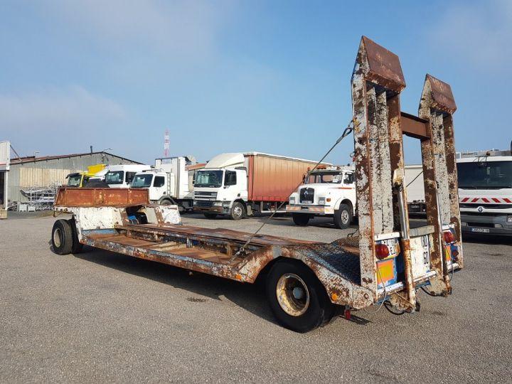 Remorque Samro Porte engins PORTE-ENGINS 2 essieux BLANC - BLEU - 5