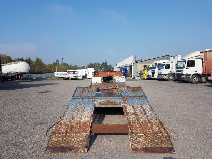 Remorque Samro Porte engins PORTE-ENGINS 2 essieux BLANC - BLEU - 7