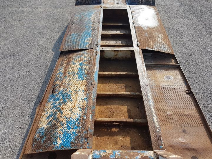 Remorque Samro Porte engins PORTE-ENGINS 2 essieux BLANC - BLEU - 11