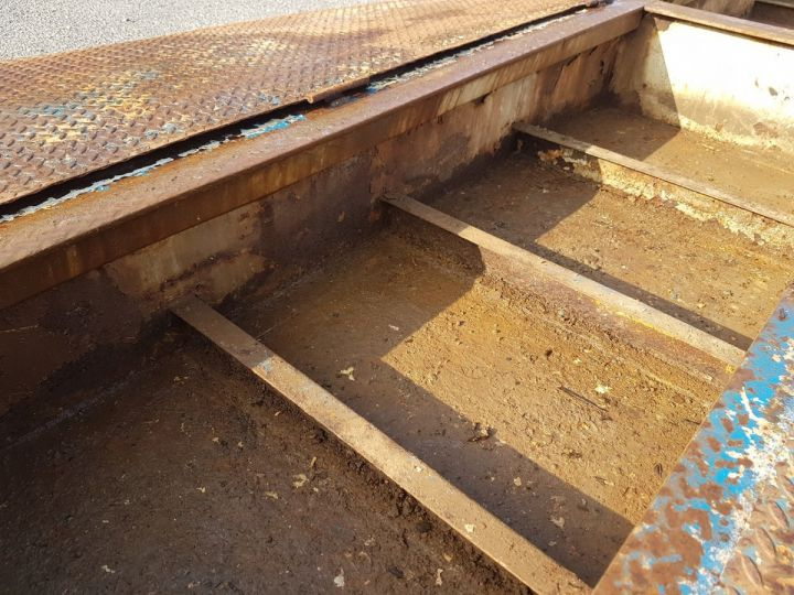 Remorque Samro Porte engins PORTE-ENGINS 2 essieux BLANC - BLEU - 13