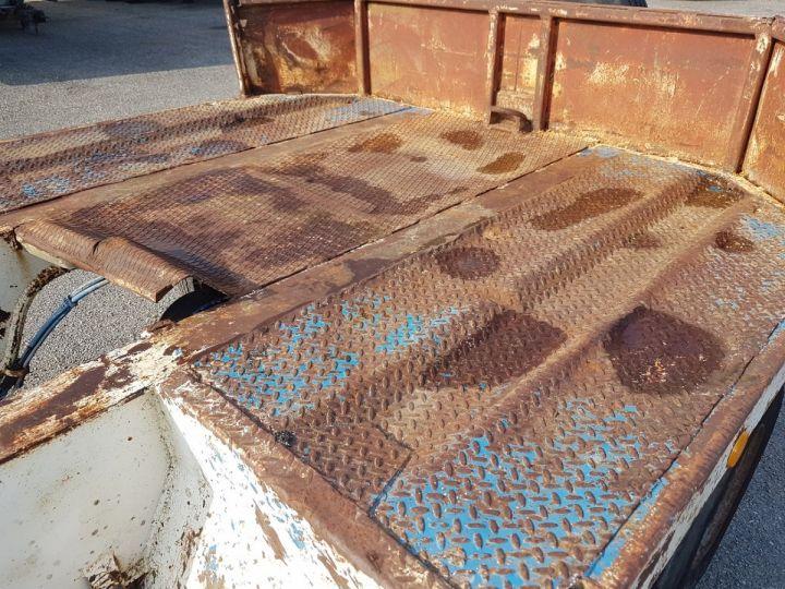 Remorque Samro Porte engins PORTE-ENGINS 2 essieux BLANC - BLEU - 18
