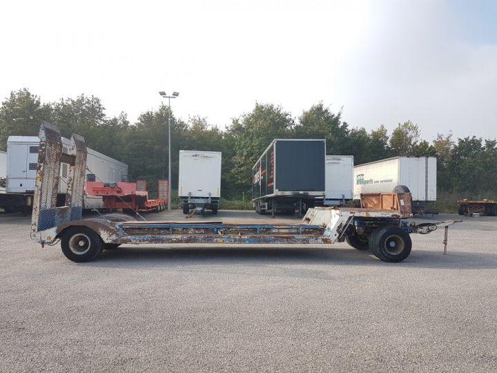 Remorque Samro Porte engins PORTE-ENGINS 2 essieux BLANC - BLEU - 21
