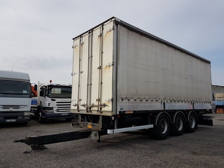Remorque Fruehauf Rideaux coulissants P.L.S.C. RIDELLES - 3 essieux BLANC - NOIR - GRIS - 1