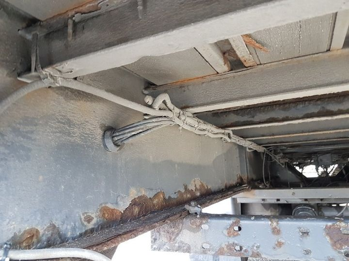 Remorque Fruehauf Rideaux coulissants P.L.S.C. RIDELLES - 3 essieux BLANC - NOIR - GRIS - 13