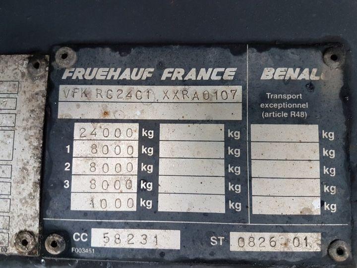 Remorque Fruehauf Rideaux coulissants P.L.S.C. RIDELLES - 3 essieux BLANC - NOIR - GRIS - 20