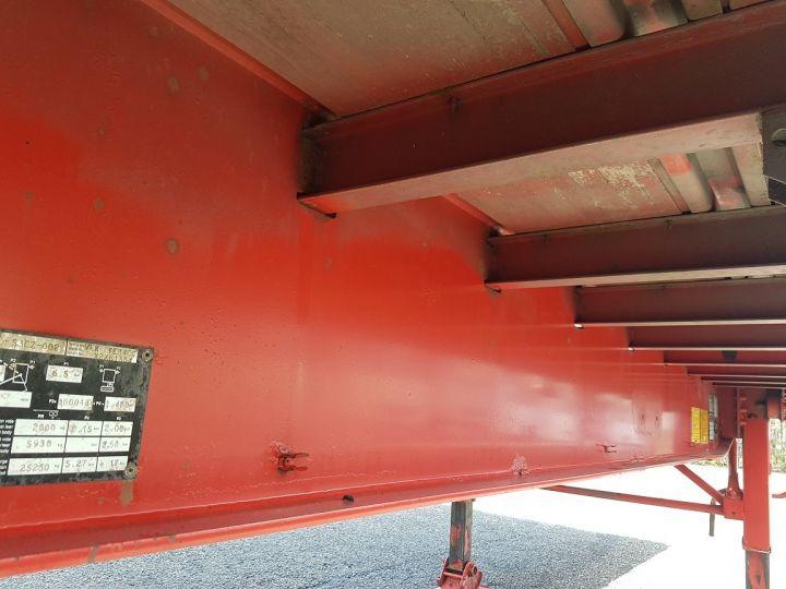 Remorque Fruehauf TX 34 Rideaux coulissants P.L.S.C. à ridelles + HAYON BLANC ET ROUGE - 14