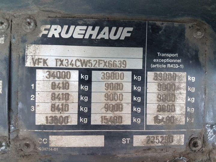 Remorque Fruehauf TX 34 Rideaux coulissants P.L.S.C. MaxiSpeed 3 essieux BLANC - NOIR - 21
