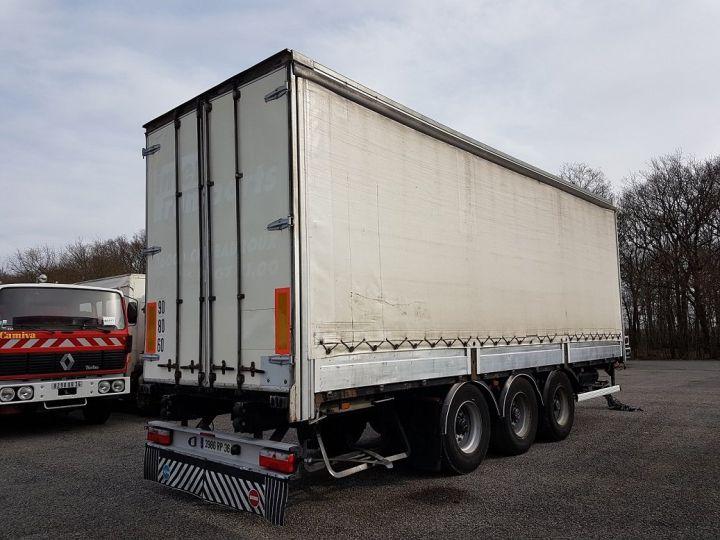 Remorque Rideaux coulissants P.L.S.C. RIDELLES - 3 essieux BLANC - NOIR - GRIS Occasion - 2