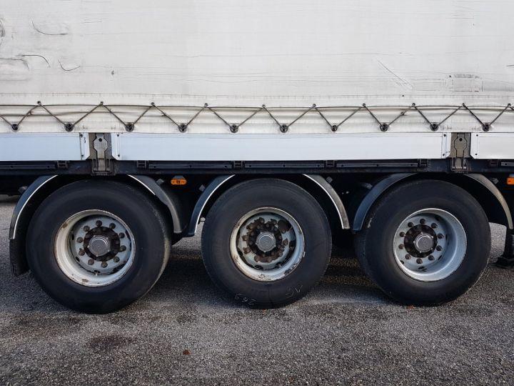 Remorque Samro Rideaux coulissants Remorque 3 essieux P.L.S.C. à ridelles 8m20 BLANC - GRIS - NOIR - 12
