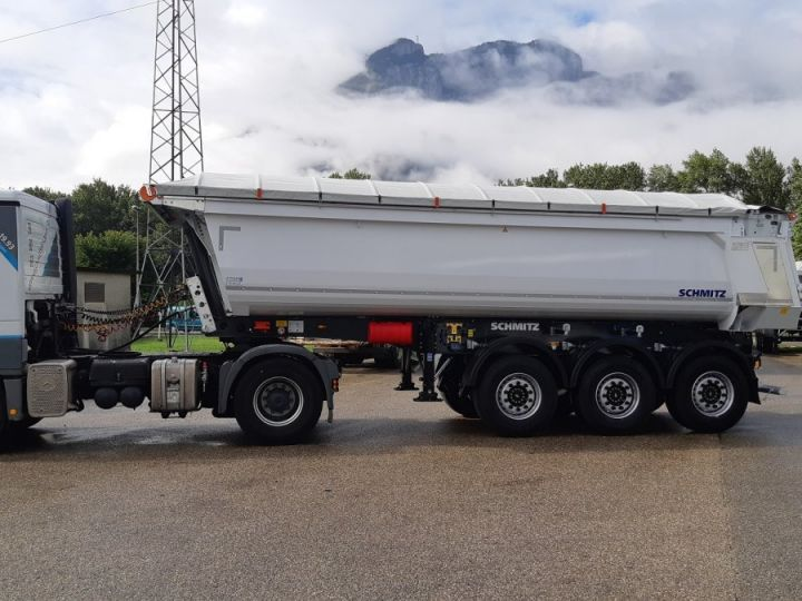 Remorque Schmitz Benne acier renforcée DISPO Blanche - 1