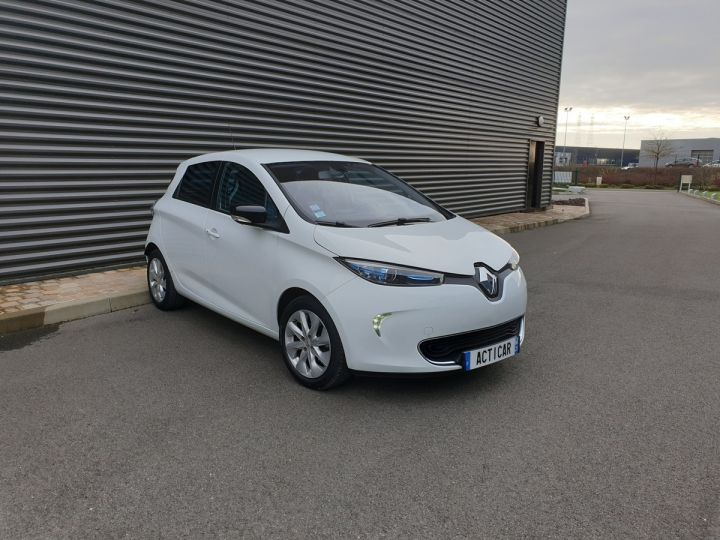 Renault Zoe intens charge rapide bva Blanc Occasion - 2
