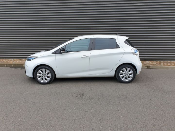 Renault Zoe intens charge rapide bva Blanc Occasion - 4