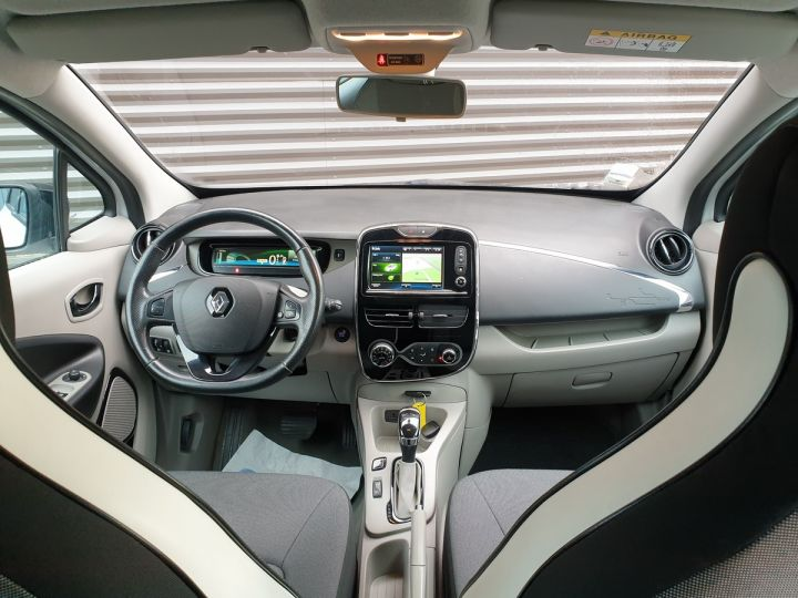 Renault Zoe intens charge rapide bva Blanc Occasion - 5