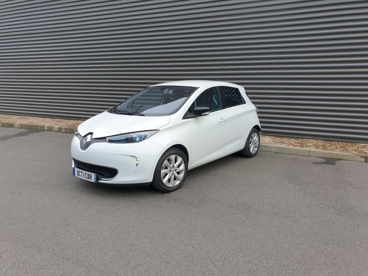 Renault Zoe intens charge rapide bva iii Blanc Occasion - 1