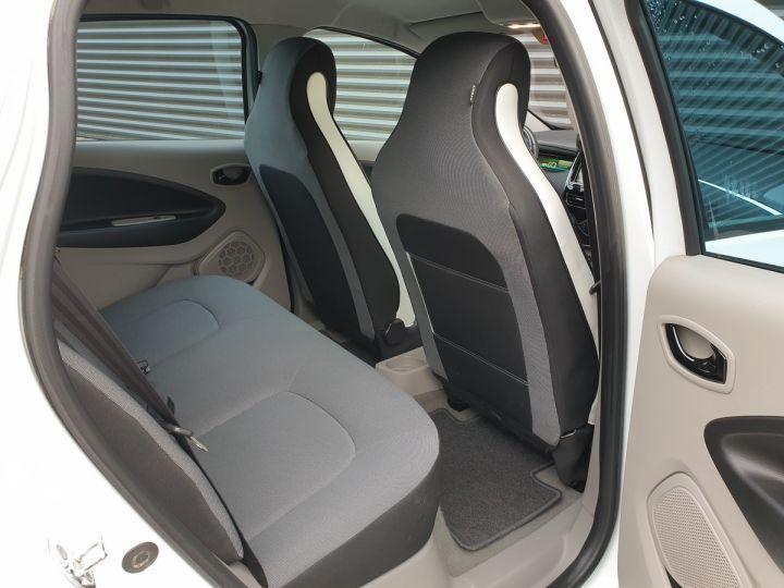 Renault Zoe intens charge rapide bva iii Blanc Occasion - 8
