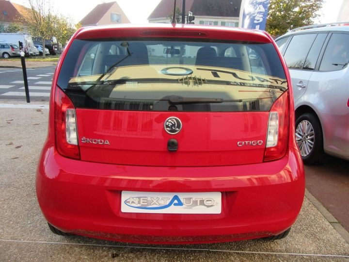 Skoda CITIGO 1.0 MPI 60CH ACTIVE 5P Rouge Occasion - 6