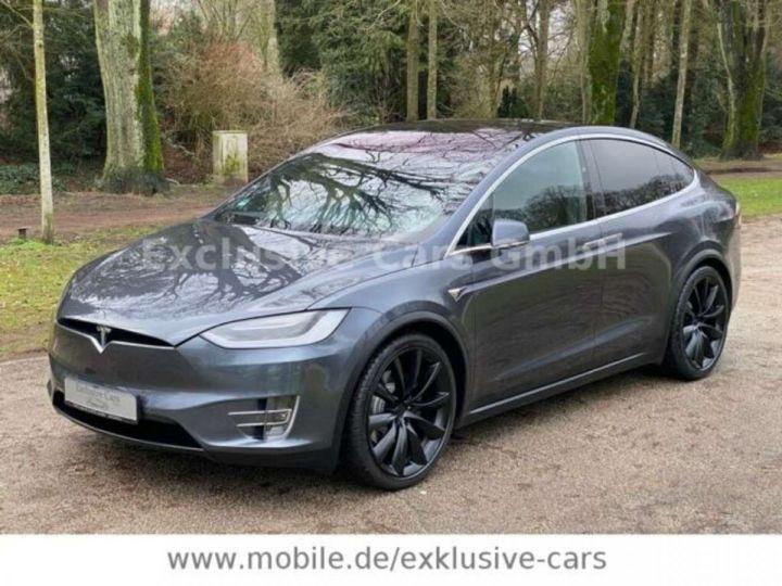 Tesla Model X 100D 525 cv *6 sièges* Pano + attelage * Auto Pilot* Gris Foncé Métallisé - 2