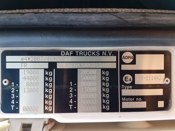 Tractor truck Daf XF 106.510 SSC - INTARDER BLNC - ROUGE - 14