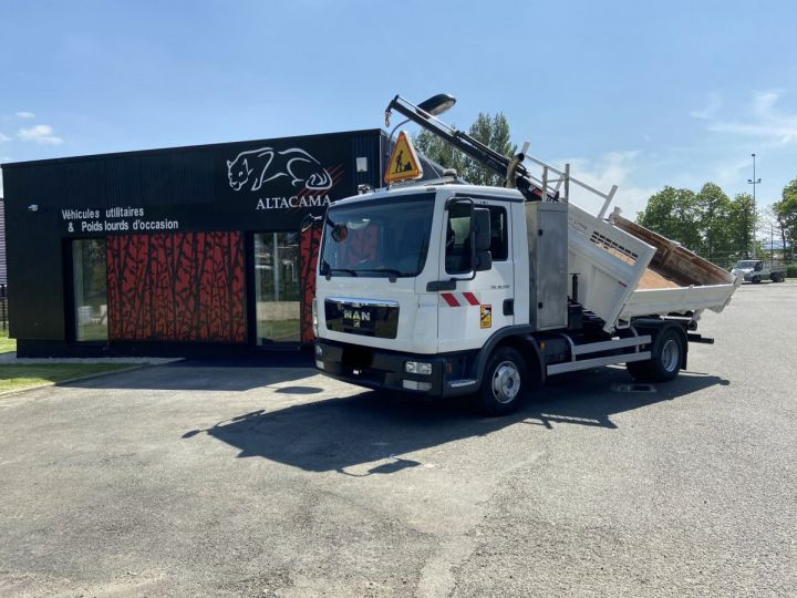 Tractor truck Man TGL 10.220 BI BENNE GRUE BLANC - 1