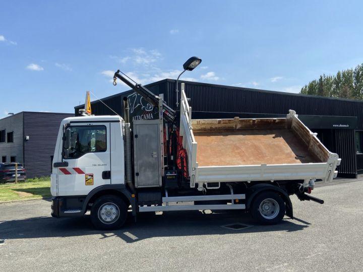 Tractor truck Man TGL 10.220 BI BENNE GRUE BLANC - 3