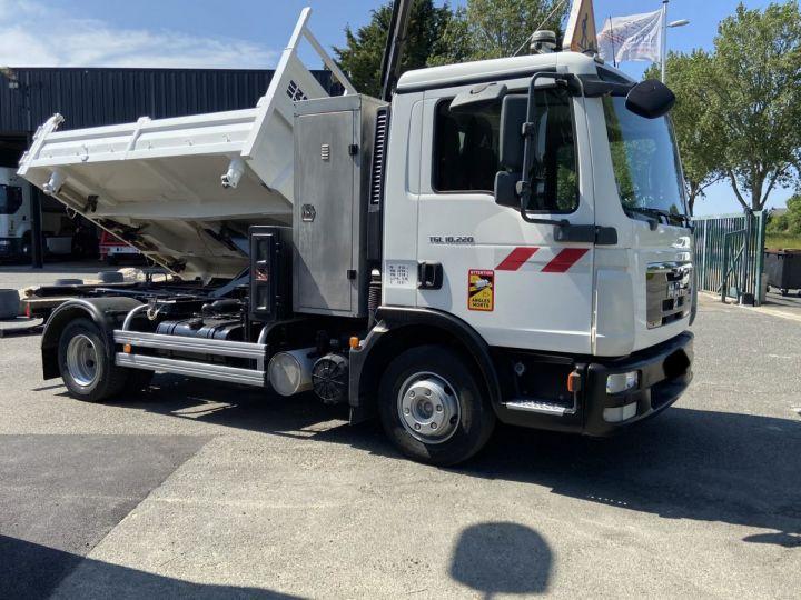 Tractor truck Man TGL 10.220 BI BENNE GRUE BLANC - 4