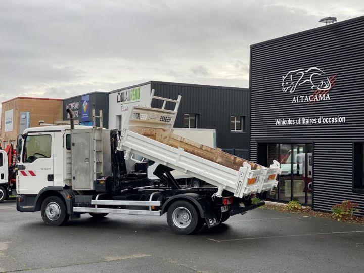 Tractor truck Man TGL 10.220 BI BENNE GRUE BLANC - 6