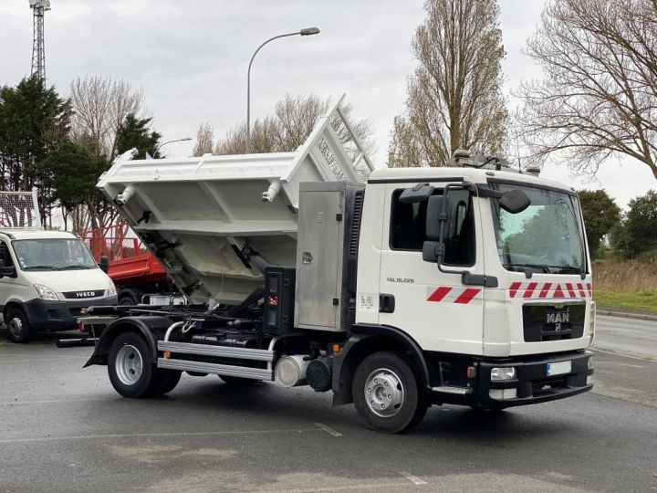 Tractor truck Man TGL 10.220 BI BENNE GRUE BLANC - 10