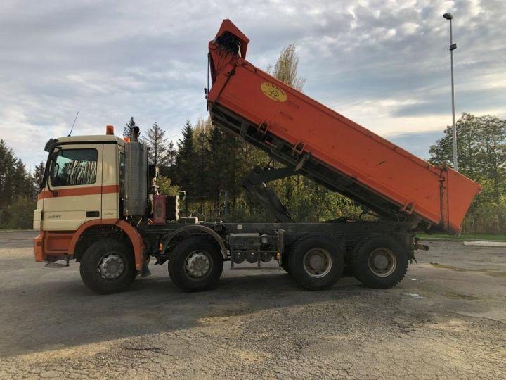 Tractor truck Mercedes Actros 3241 8x4 BI BENNE HYDRAULIQUE ROUGE - 6