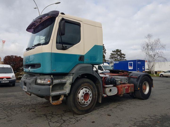 Tractor truck Renault Kerax 400.19 LAMES VERT - BEIGE - 1