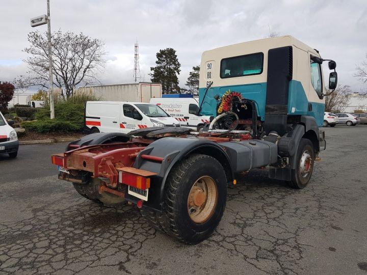 Tractor truck Renault Kerax 400.19 LAMES VERT - BEIGE - 2