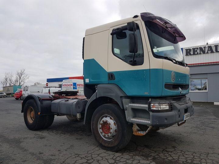 Tractor truck Renault Kerax 400.19 LAMES VERT - BEIGE - 3