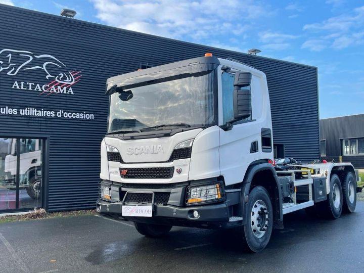 Tractor truck Scania P 410 6x4 POLYBENNE BRAS AMPLIROLL BOITE AUTOMATIQUE BLANC - 17
