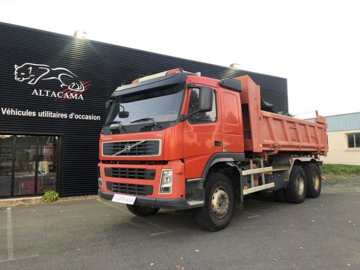 Tractor truck Volvo FM VOLVO FM 400 N3G 6x4 BI BENNE RIDELLE HYDRAULIQUE PORTE AR HYDRAULIQUE ROUGE - 1